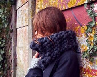 Massive, soft, chunky, super cosy handmade wool blend scarf.
