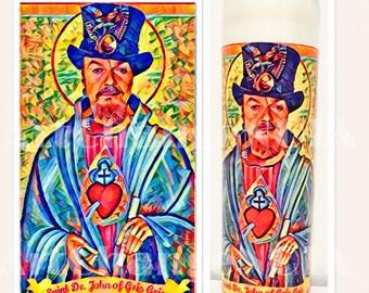 Dr. John Devotional Prayer Saint Candle by ArtChangeNOLA