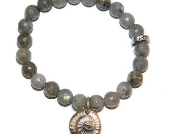 Ammonite Shell Charm Bracelet