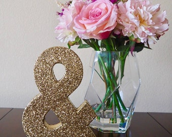 "8"" paper mache ampersand 