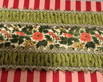 Antique Victorian Velvet Tapestry Table Runner