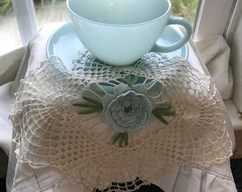 Fire-King Baby Blue / Robin Egg Blue Cup and Saucer
