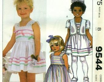 McCall's 9544 RUFFLES & LACE Sundress Jacket Size 4 5 6  ©1985