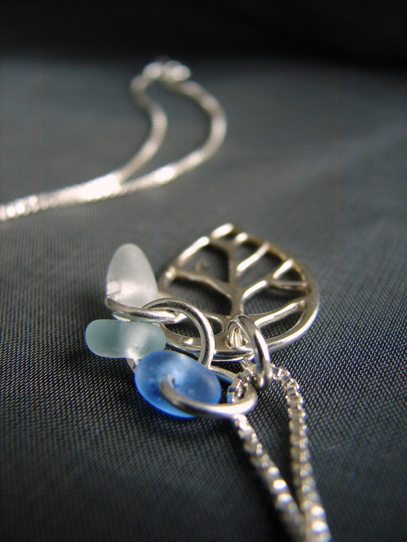 Little Leaf sea glass necklace