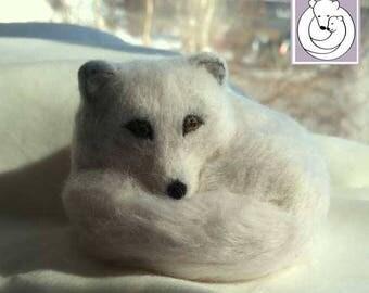 Polar Fox, Needle Felted