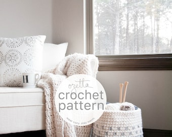 Crochet Pattern / Chunky Ombré Fair Isle Basket  / THE MINTURN Basket
