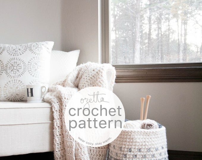 Featured listing image: Crochet Pattern / Chunky Ombré Fair Isle Basket  / THE MINTURN Basket