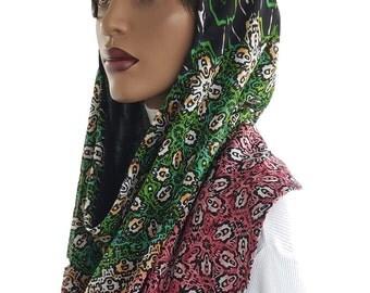 Koul SHôl™ Head Hoodie Mesh Knit  Cowl Hoodie Fully Lined Jersey Knit Veil Devotional Head Hoodie Veil Hoodie Hijab Hoodie Handmade