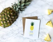 new home card, new house card, housewarming card, home sweet home card, pineapple