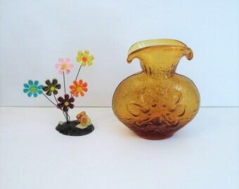 Vintage Amber Vase Stelvia Antiqua Line designed by Wayne Husted