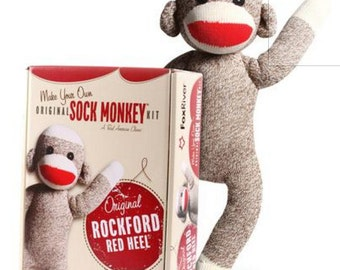 Sock Monkey Kit Rockford Red Heel USA Fox River NIB
