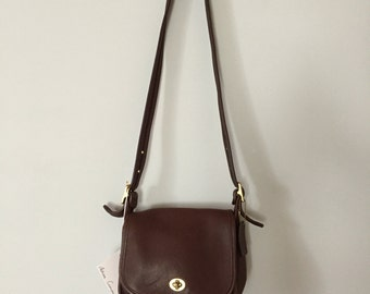 Coach Wilson dark chestnut leather messenger bag