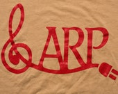 1970s ARP Synthesizer T-Shirt, Keyboard Instrument Logo Graphic Tee, True Vintage 70s, Music Memorabilia