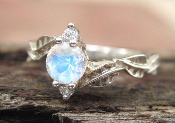 Moonstone Engagement Ring Etsy