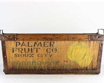 Banana Crate, Banana Box, Vintage Banana Box, Vintage Banana Crate, Wood Banana Crate, Wood Banana Box, Old Banana Crate, Old Banana Box