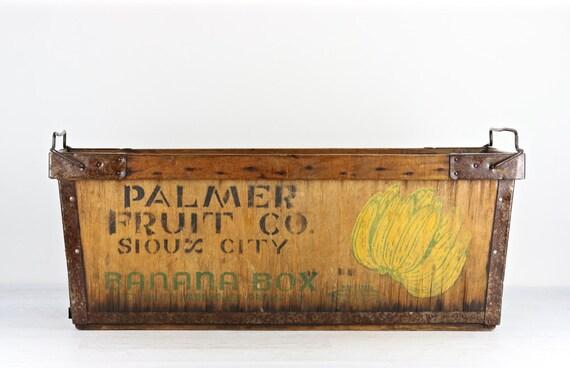 Banana Crate Banana Box Vintage Banana Box Vintage Banana
