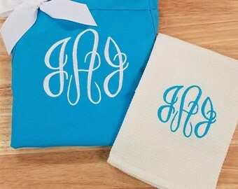 Personalized Apron for Women ~ Optional Dish Towels or Chef Hat
