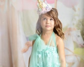 Unicorn flower lace crown headband || gold or silver + pastels || Unicrown
