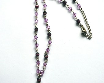 Amethyst necklace - purple necklace - hand made