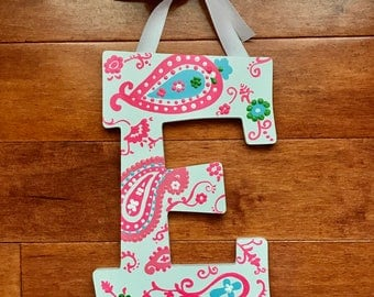 Custom Hand Painted Paisley Letter
