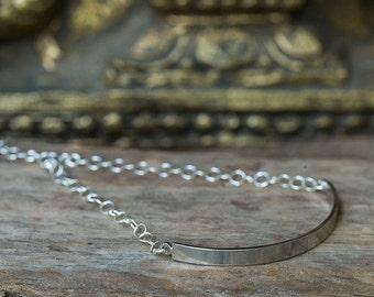 Bar Bracelet, Silver Bar Bracelet, Minimal Bracelet, Silver Bracelet, Stacking Bracelet, Modern Bracelet, Minimal Jewelry, Layering Bracelet