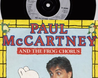 "PAUL MCCARTNEY and the Frog Chorus We All Stand Together 1984 Uk Issue 7"" 45 rpm Vinyl Single Record 80s Pop Rupert Beatles R6086"