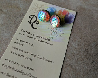 Your choice of amazing Mermaid stud earrings!  - Dragon scale earrings - Stud earrings