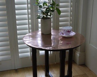 Vintage Copper Topped Table - Coffee Table