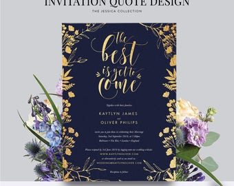 Wedding Invitation Card Invite Single-Sided Printed Diy Printable Digital File Only — The Jessica Collection