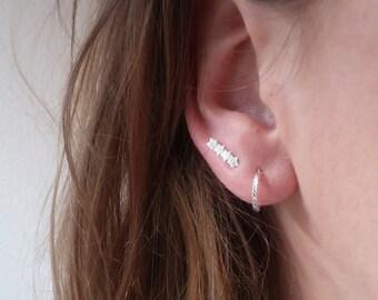 STARLIGHT EARRINGS- 925 Sterling Silver Earrings // Delicate Silver Earrings // Christmas Jewelry // Perfect Christmas Gift // Dainty