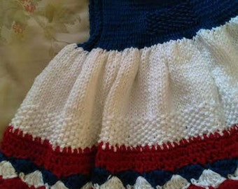 Red, White and Blue in 100% Cotton