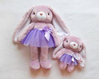 Toy set, Mini clothing, Plush Bunny, Stuffed gift, Cute Gift for girl, Stuffed Rabbit, Cute Bunny, Plush Stuffed, Kawaii Animal, Soft Toy