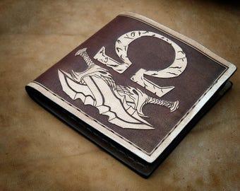 God of War - Kratos  handmade bifold  leather wallet