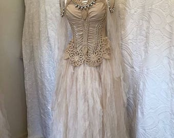 Boho wedding dress macrame,bridal gown macrame,beach wedding dress macrame,open back wedding dress, boho wedding dress sand ,rustic wedding