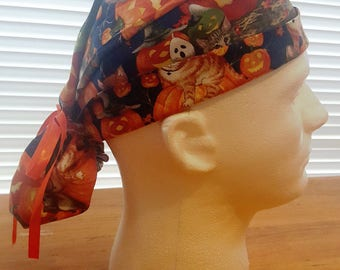 Surgical Cap Ponytail - Meow-laween