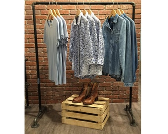 Clothing Rack Industrial Garment Racks Vintage Style Clothes Racks Clothing Display Rack