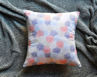 Floral Cushion Cover, Throw Pillow Cover, Throw Cushion Cover, Decorative Cushion Cover, Decorative Pillow Cover - Multicolour Sketches