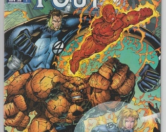 Fantastic Four #1 1996 Jim Lee Artwork Marvel Comics The Avengers X-Men Jack Kirby Stan Lee The Thing Human Torch Mr Fantastic Sue Storm