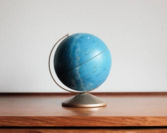 Small Tin Celestial Globe - Reploge Blue
