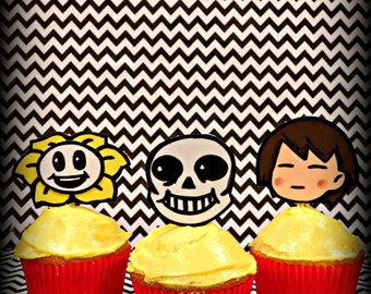 Undertale Inspired Cake Toppers