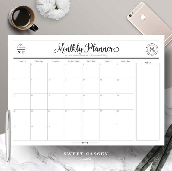 monthly work planner