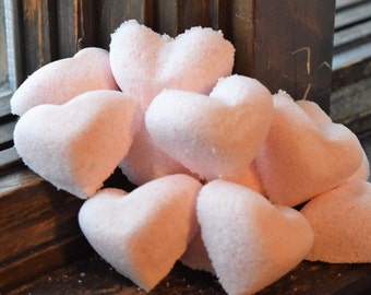 Mini Fizzy Heart Bath Bombs (2 oz.)