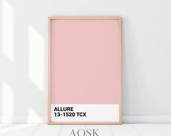 Light Pink Pantone Poster, Pantone Pink, Minimalist Poster, Pantone Color, Pantone Wall Art, Home Decor, Typography Poster, Trendy Printable