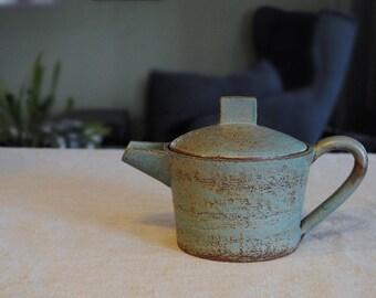 Turquoise teapot Théière turquoise Ceramic teapot Stoneware teapot Handmade teapot Satin matte glaze François Grenier