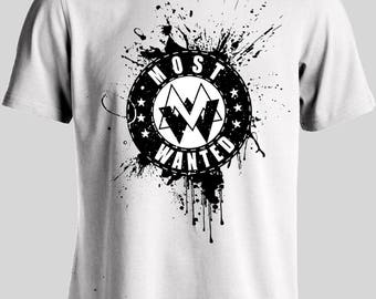 White Most Wanted Shirt – Available in multiple sizes