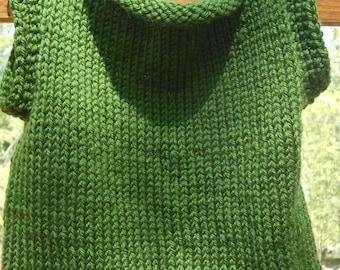Forest Green Sleeveless Sweater