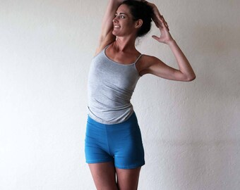 New for summer!!  High waisted shorts - Yoga pants - running - gym - dance wear - yoga clothes. Teal - Black - Burgundy. Sizes SM and ML