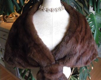 Pretty dyed squirrel fur cape / stole / wrap / shrug