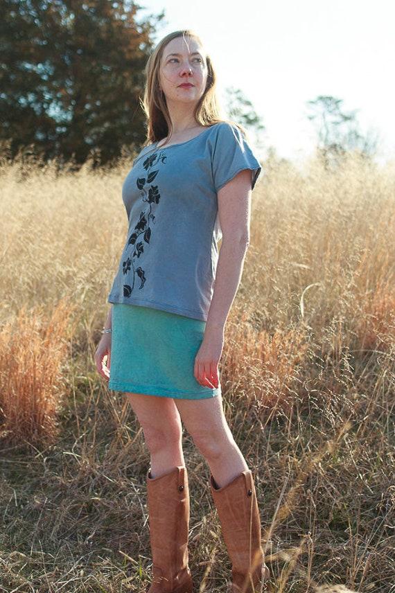 Mini Skirt in Organic Cotton Jersey, Fair trade Fabric Skirt, Eco Friendly Skirt, Mini Pencil Skirt