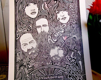 Fleetwood Mac poster by Posterography